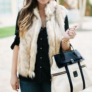 Topshop Mink Faux Fur Vest